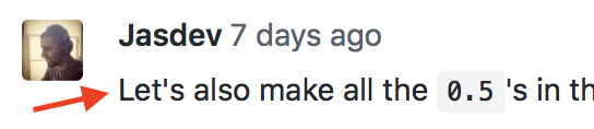 "An example of a GitHub code review comment that uses ""let's"""